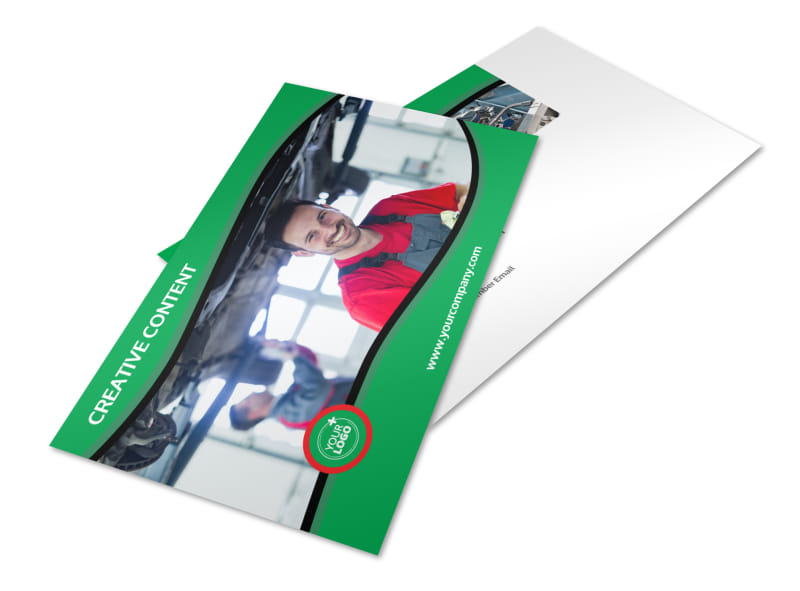 Oil Change Service Postcard Template 2