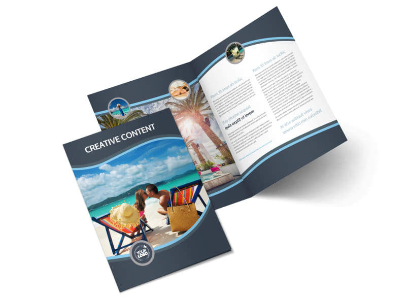5 Star Resort Bi-Fold Brochure Template 2