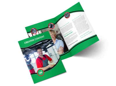 Oil Change Service Bi-Fold Brochure Template 2