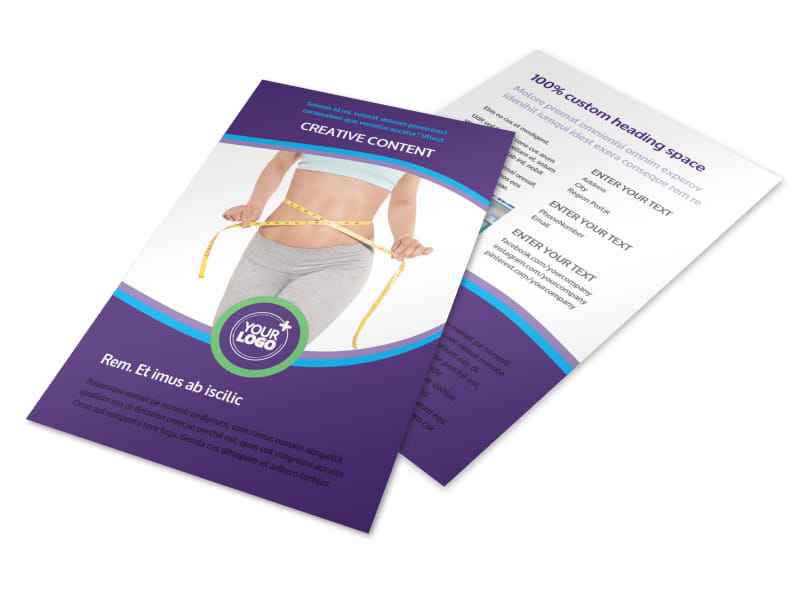 weight loss clinic flyer template mycreativeshop