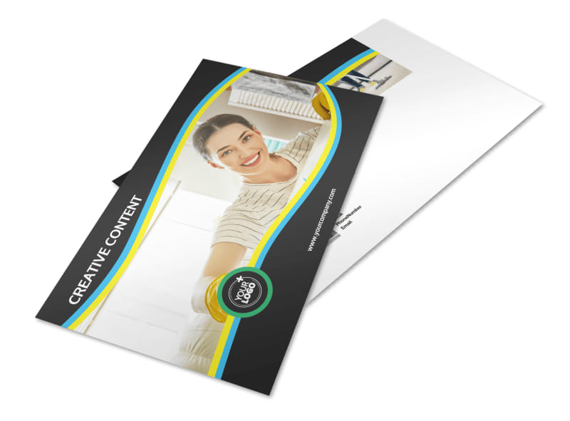 Maid Services Postcard Template