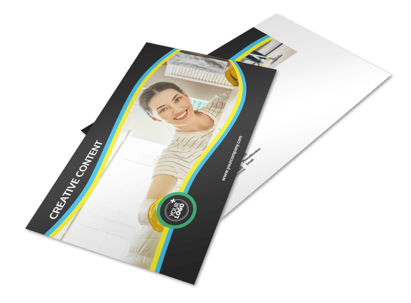 Maid Services Postcard Template Preview 1
