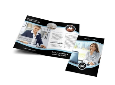 Accounting & Tax Services Bi-Fold Brochure Template