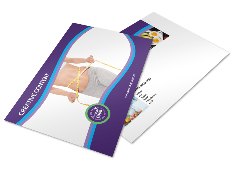 Weight Loss Clinic Postcard Template Preview 1