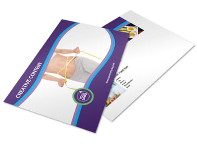 Weight Loss Clinic Postcard Template