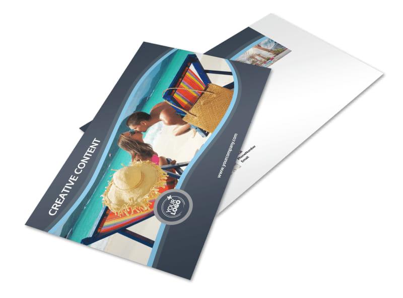 5 Star Resort Postcard Template