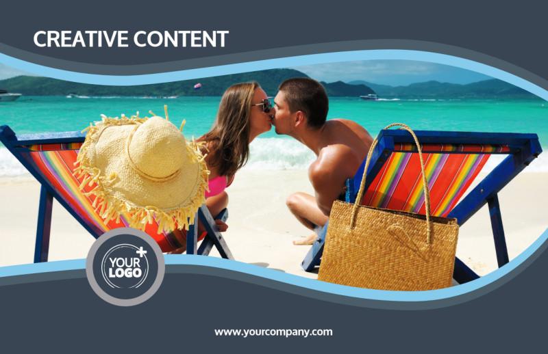 5 Star Resort Postcard Template Preview 2