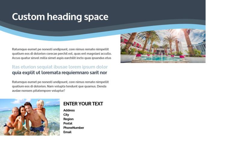 5 Star Resort Postcard Template Preview 3