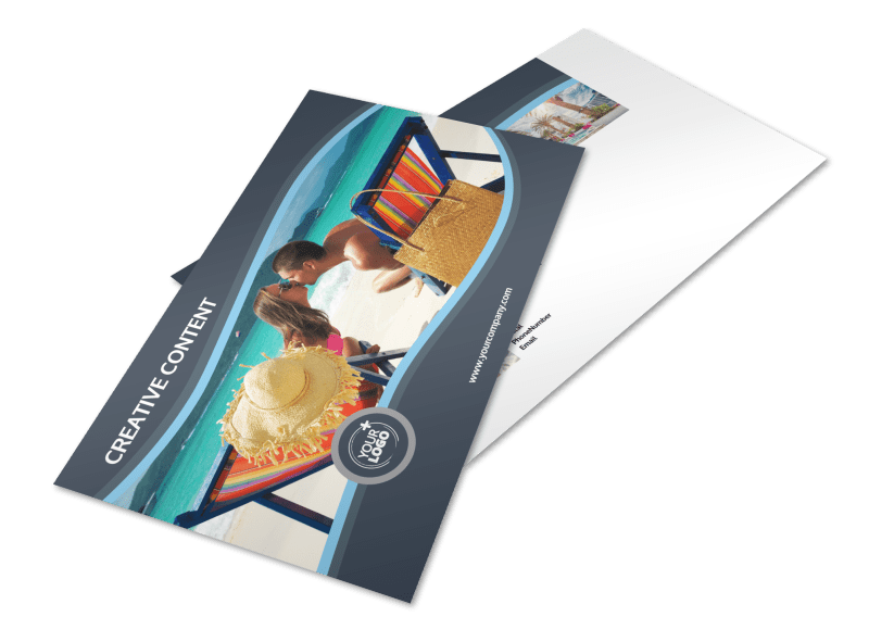 5 Star Resort Postcard Template Preview 1