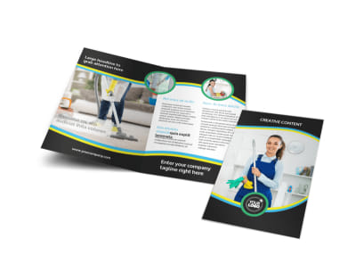 Maid Services Bi-Fold Brochure Template