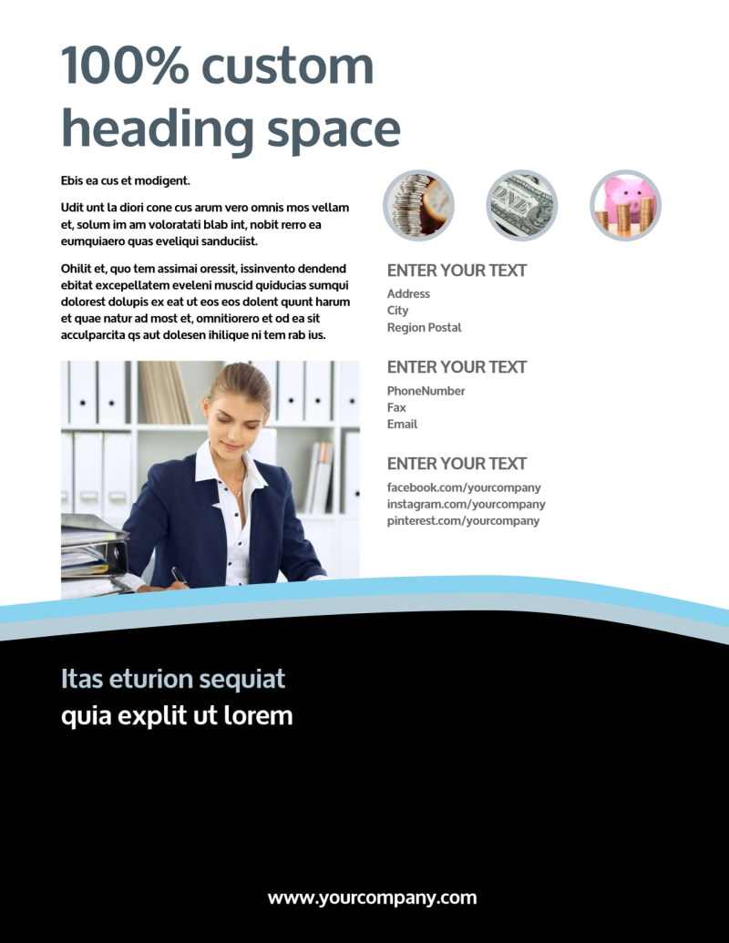 Tax Consultants Flyer Template Preview 3