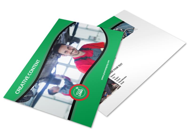 Oil Change Service Postcard Template