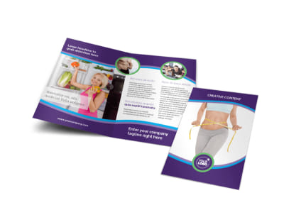 Weight Loss Clinic Brochure Template preview