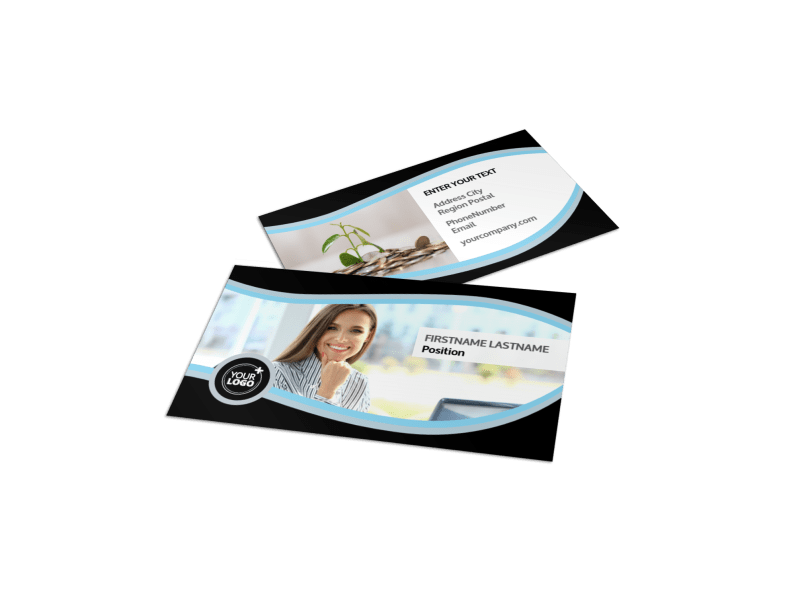 Tax Consultants Business Card Template Preview 1