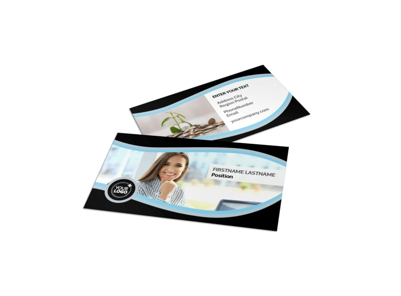 Accounting & Tax Services Business Card Template