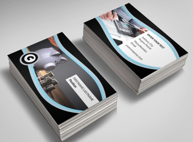 Accounting & Tax Services Business Business Card Templates