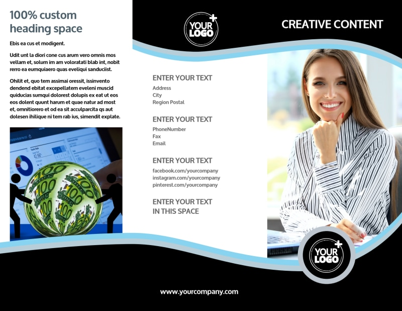Tax Consultants Brochure Template Preview 2