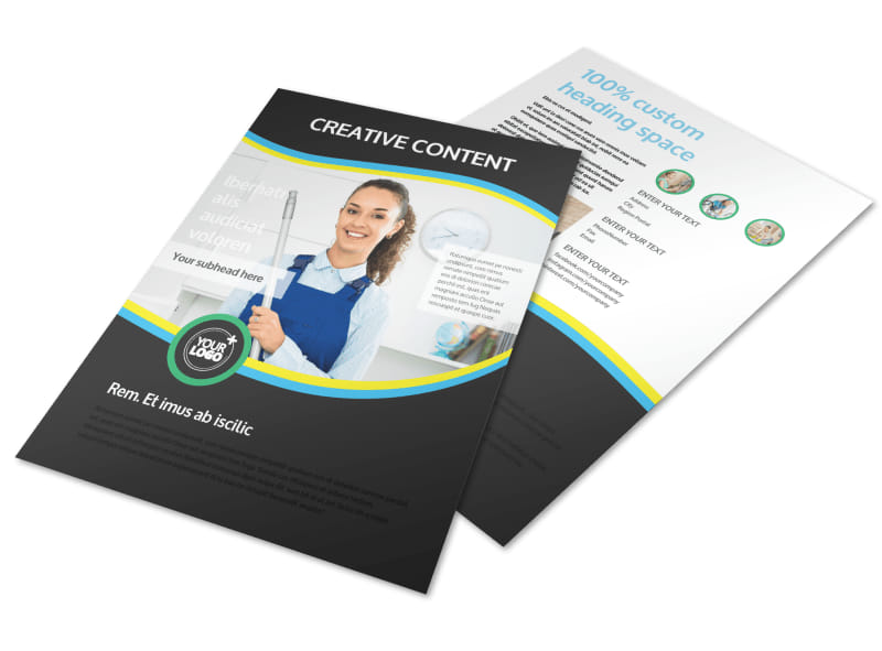 Maid Services Flyer Template