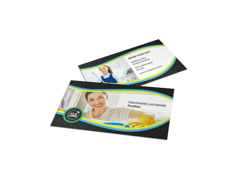 maid services business card template mycreativeshop