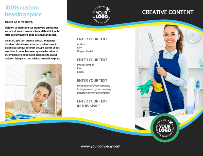 Maid Services Brochure Template Preview 2
