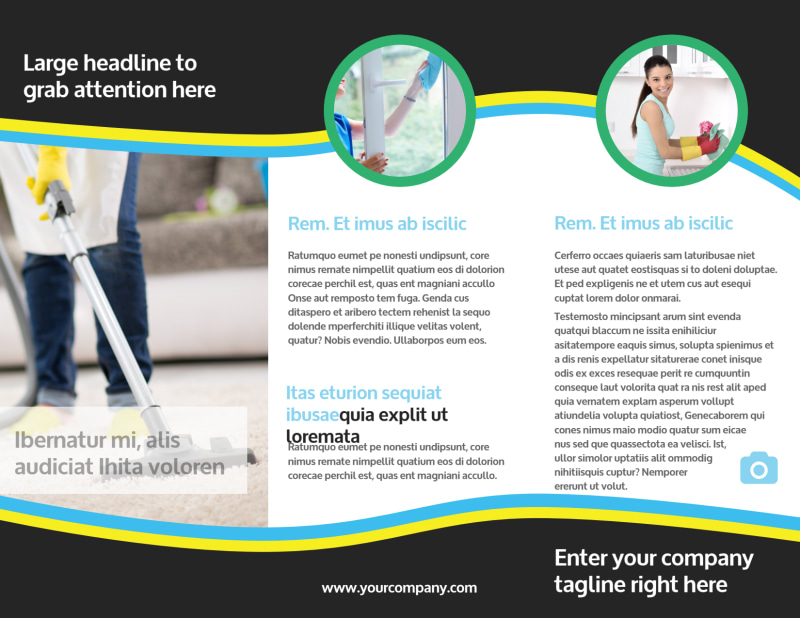 Maid Services Brochure Template Preview 3