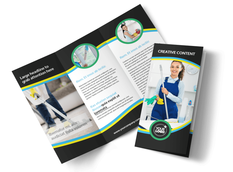 Maid Services Brochure Template Preview 1