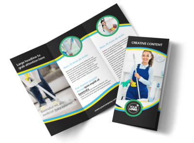Maid Services Tri-Fold Brochure Template