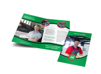 Oil Change Service Bi-Fold Brochure Template