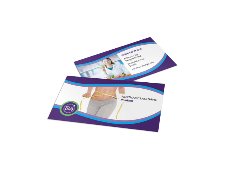 Weight Loss Clinic Business Card Template