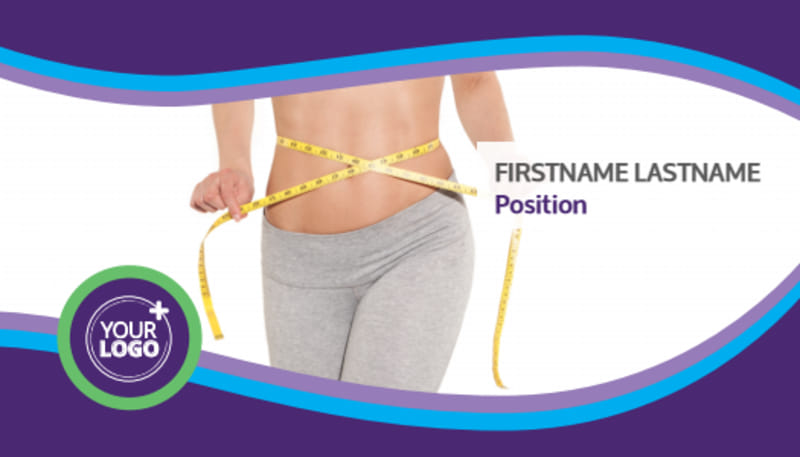 Weight Loss Clinic Business Card Template Preview 2