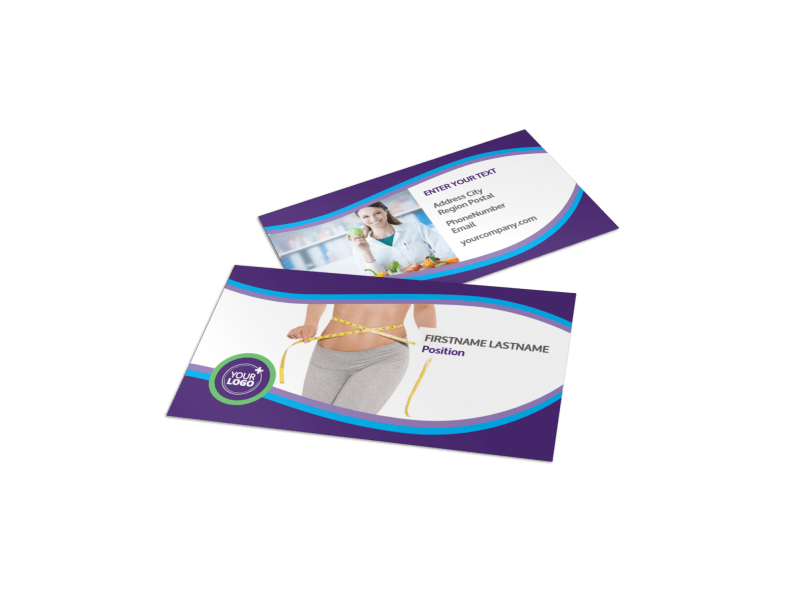 Weight Loss Clinic Business Card Template Preview 1