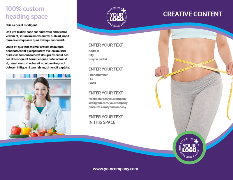 Weight Loss Clinic Brochure Template Preview 2