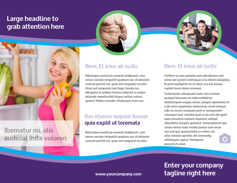 Weight Loss Clinic Brochure Template Preview 3