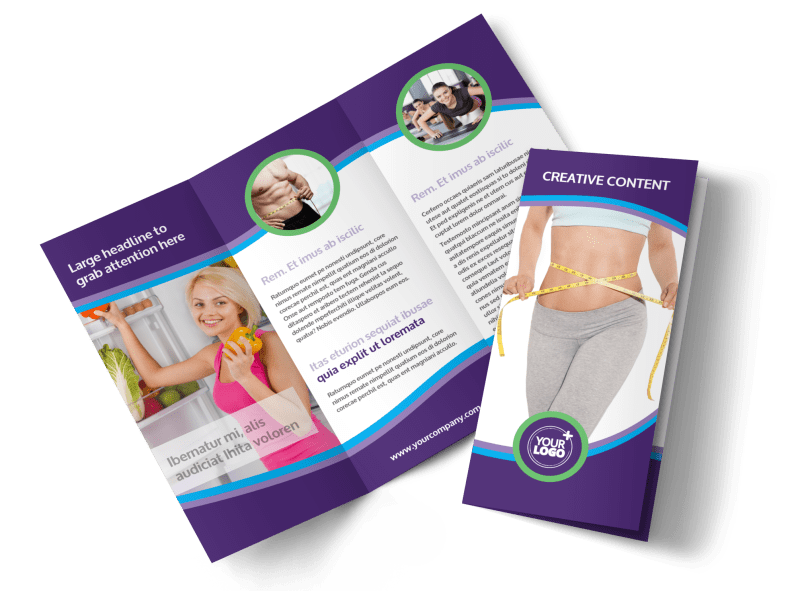 Weight Loss Clinic Brochure Template Preview 1