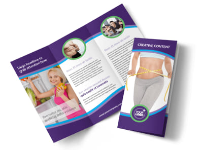 Weight Loss Clinic Tri-Fold Brochure Template preview