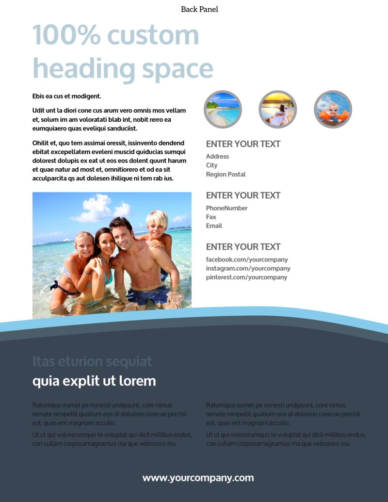 5 Star Resort Flyer Template Preview 3