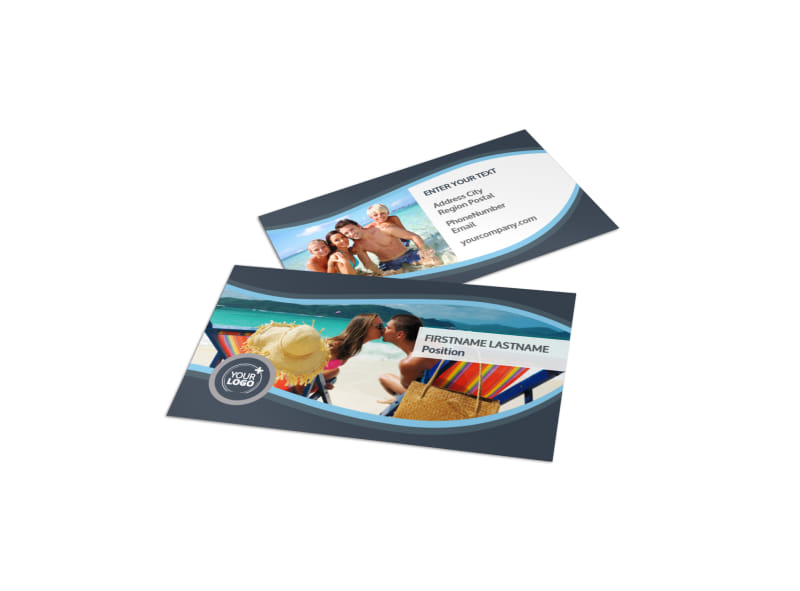 5 Star Resort Business Card Template Preview 4