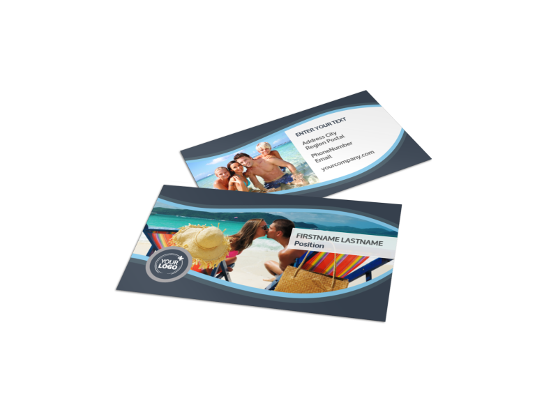 5 Star Resort Business Card Template Preview 1
