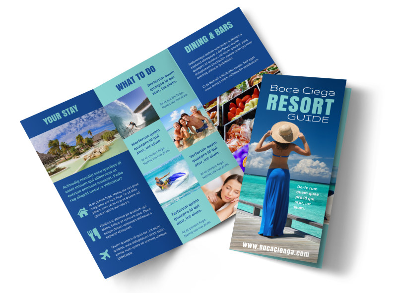 Star Resort Brochure Template MyCreativeShop - 5 fold brochure template