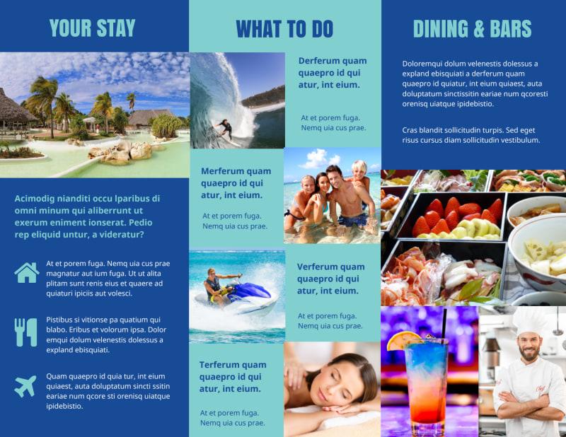 5 Star Resort Brochure Template Preview 3