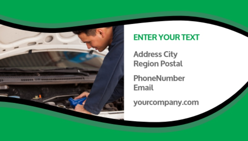 Oil Change Service Business Card Template Preview 3