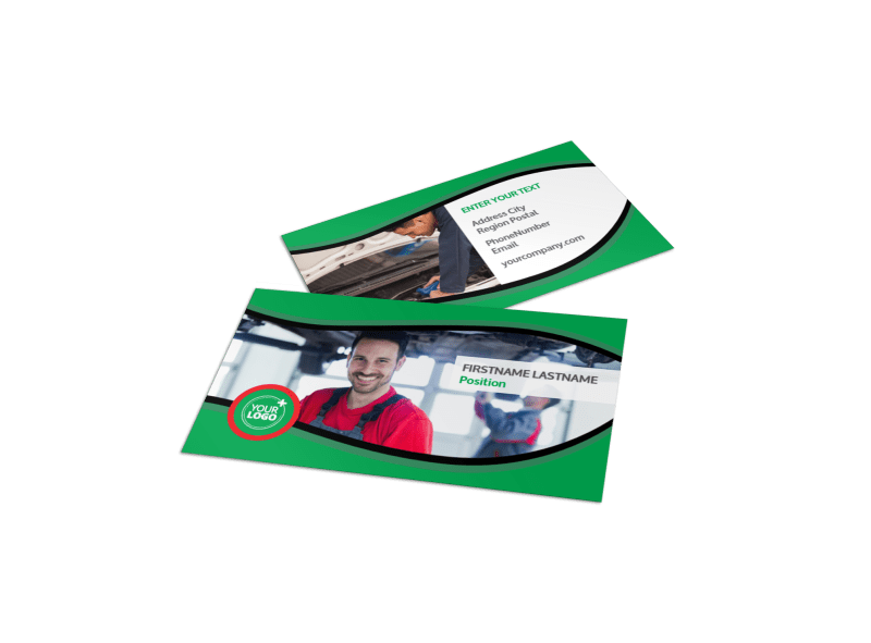 Oil Change Service Business Card Template Preview 1