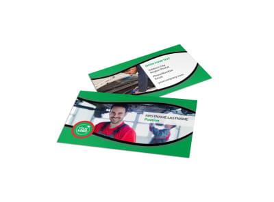 Oil Change Service Business Card Template