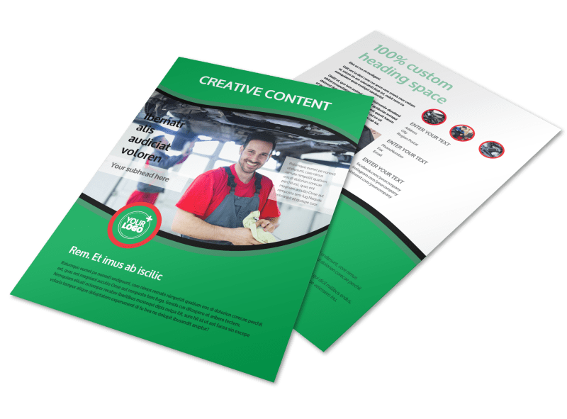 Oil Change Service Flyer Template Preview 1