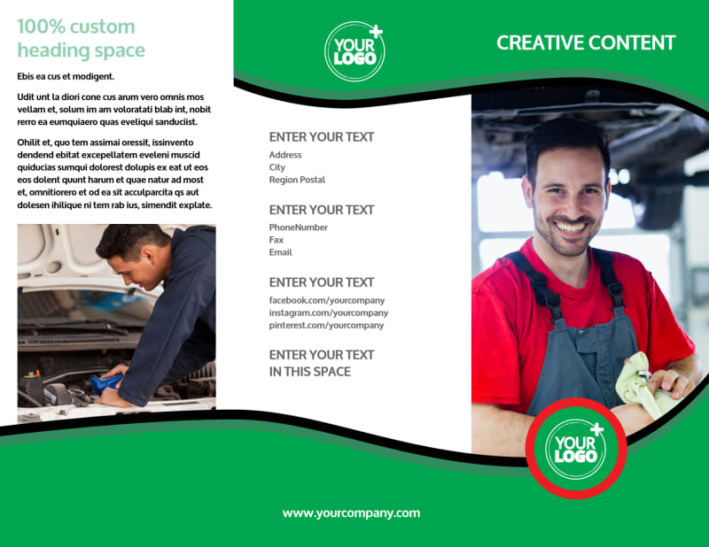 Oil Change Service Brochure Template Preview 2