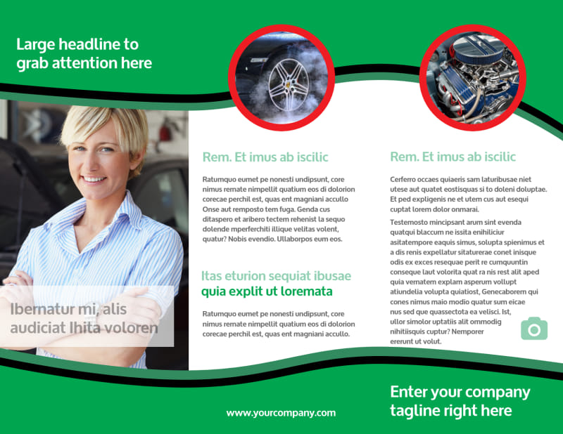 Oil Change Service Brochure Template Preview 3