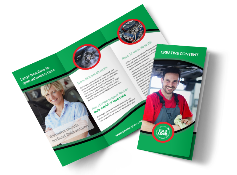 Oil Change Service Brochure Template Preview 1