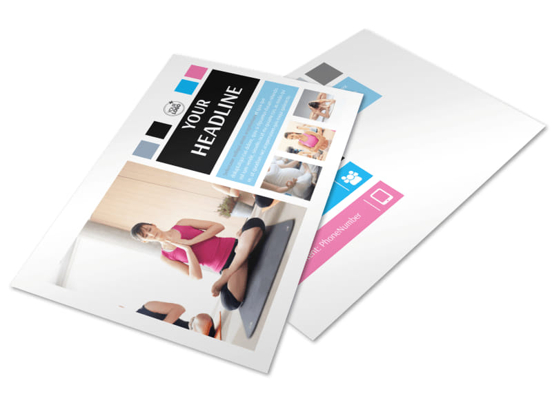 Yoga Instructor & Studio Postcard Template 2
