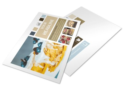 Fine Pastries Catering Postcard Template 2