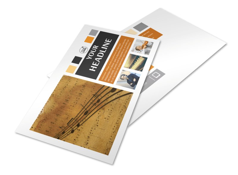 Music School Postcard Template 2